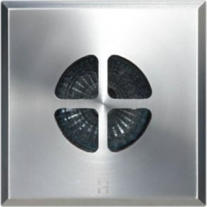 Floor Light Dark Lighter Square Clover Design - stainless steel  - Low Voltage