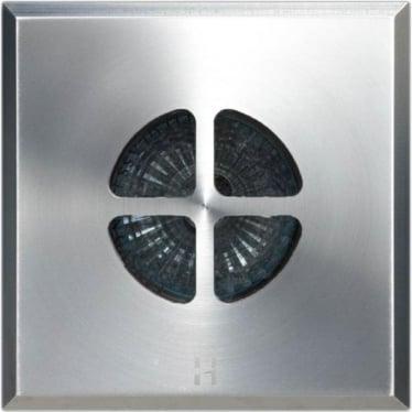 Floor Light Dark Lighter Square Clover Design - stainless steel