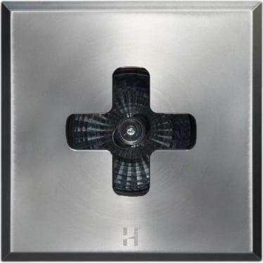 Floor Light Dark Lighter Square Cross Design - stainless steel