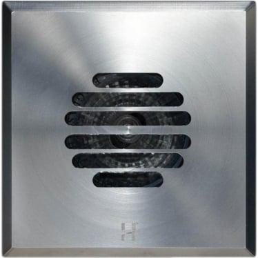 Floor Light Dark Lighter Square Grill Design - stainless steel