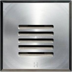 Floor Light Dark Lighter Square Louvre Design - stainless steel  - Low Voltage