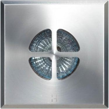 Floor Light Square Clover Design - stainless steel