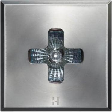 Floor Light Square Cross Design - stainless steel