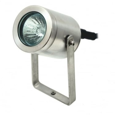Pond light with bracket  - stainless steel
