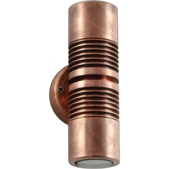 Hunza Outdoor Lighting PURE LED Euro Pillar Light Copper Hunza Outdoor Li