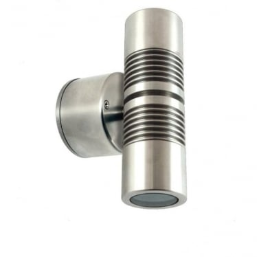 PURE LED Euro Pillar Light Retro - stainless steel - MAINS