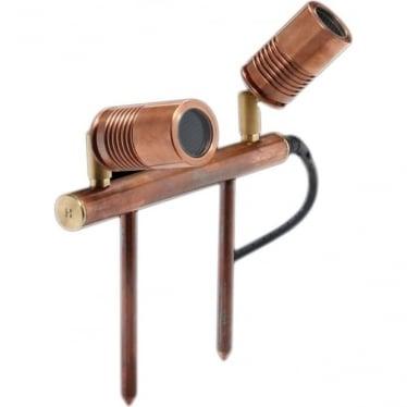 PURE LED Euro Twin Bar Light - copper