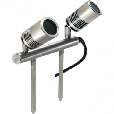 PURE LED Euro Twin Bar Light - stainless steel - Low Voltage