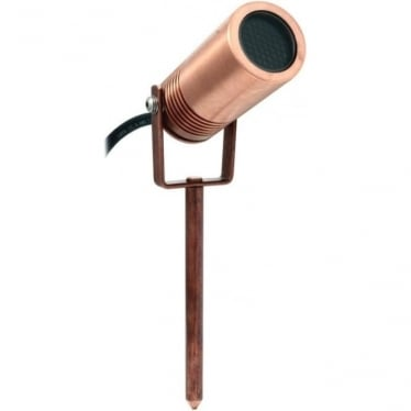 PURE LED Eurospot spike mount - copper - Low Voltage
