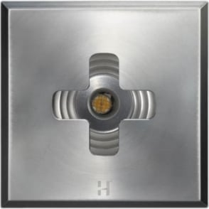 PURE LED Floor Light Cross Square - stainless steel - Low Voltage