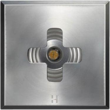 PURE LED Floor Light Cross Square - stainless steel