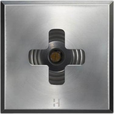 PURE LED Floor Light Dark Lighter Cross Square - stainless steel