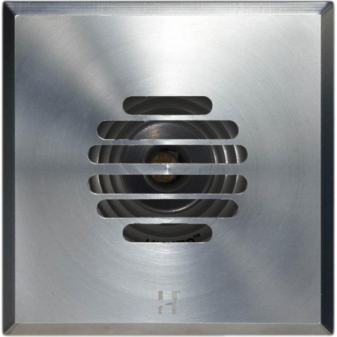 Hunza Outdoor Lighting PURE LED Floor Light Dark Lighter Grill Square - stainless steel - Low Voltage