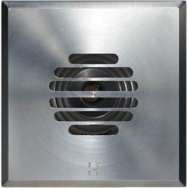 PURE LED Floor Light Dark Lighter Grill Square - stainless steel
