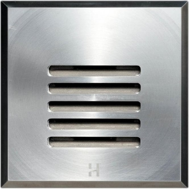 Hunza Outdoor Lighting PURE LED Floor Light Dark Lighter Louvre Square - stainless steel - Low Voltage