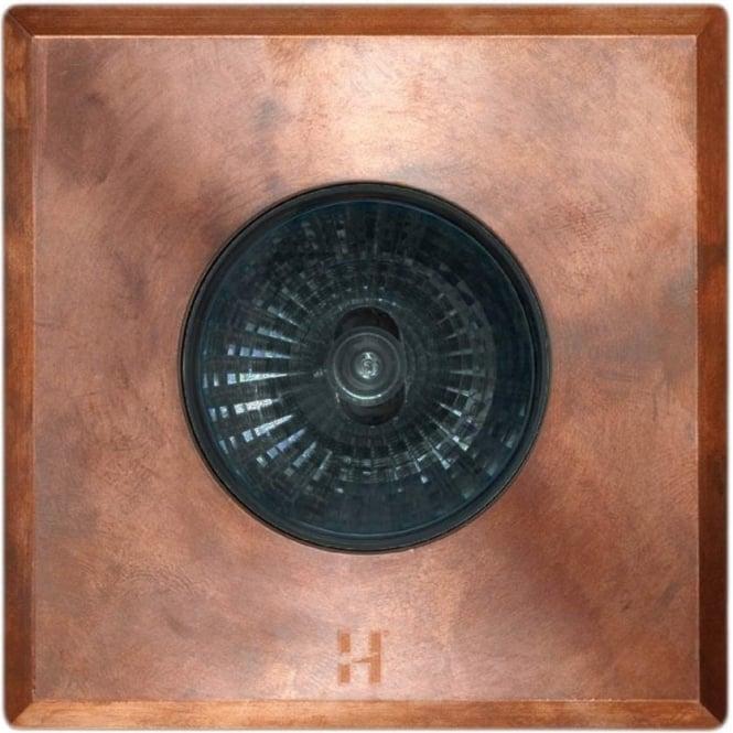 Hunza Outdoor Lighting PURE LED Floor Light Dark Lighter Spot Square - copper - Low Voltage
