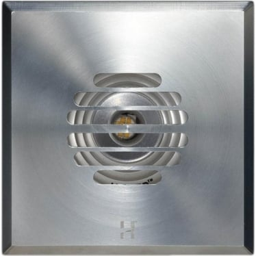PURE LED Floor Light Grill Square - stainless steel