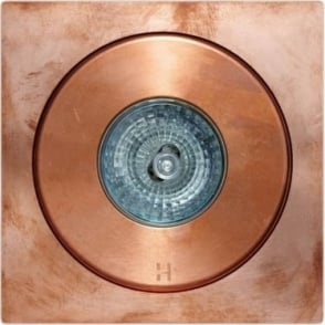 PURE LED Flush Floor Light Square - copper - Low Voltage