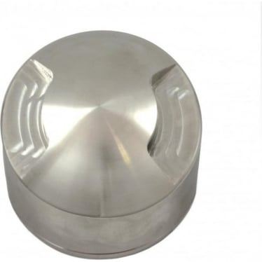 PURE LED Path Light surface mount - 2 facet - stainless steel - Low Voltage