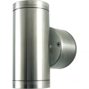 PURE LED Pillar Light Retro- stainless steel - MAINS