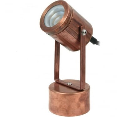 hunza outdoor lighting pure led pond light with weighted base copper