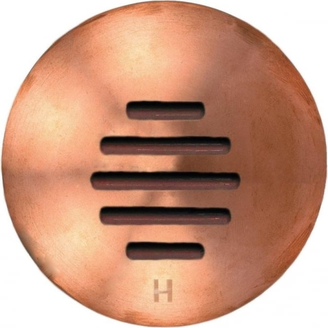 Hunza Outdoor Lighting PURE LED Step Light Louvre - copper - Low Voltage