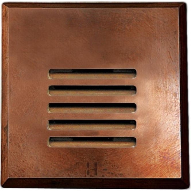 Hunza Outdoor Lighting PURE LED Step Light Louvre Square - copper - Low Voltage