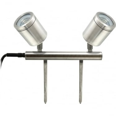 PURE LED Twin Bar Light- stainless steel - Low Voltage