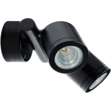 Pure LED Twin Wall Spot Retro (230V Mains) - Powder coat colours
