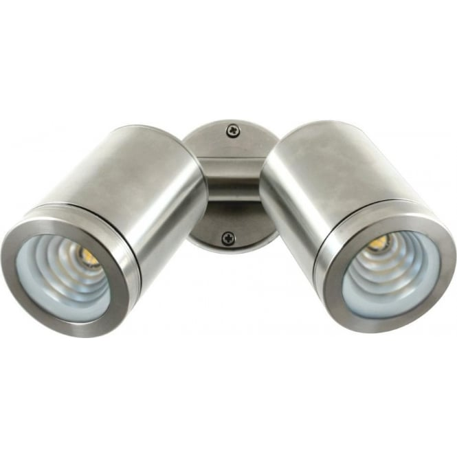 Hunza Outdoor Lighting PURE LED Twin Wall Spot Stainless Steel Low Voltag