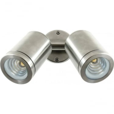 PURE LED Twin Wall Spot - stainless steel