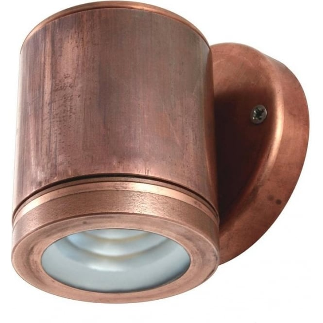 Hunza Outdoor Lighting PURE LED Wall Down Light - copper - Low Voltage