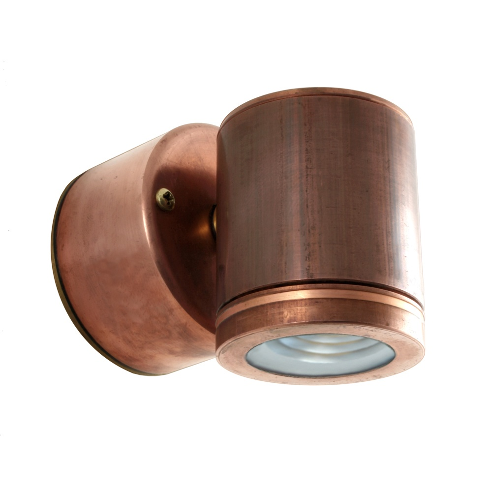 Hunza Outdoor Lighting PURE LED Wall Down Light Retro 230V Mains Copper