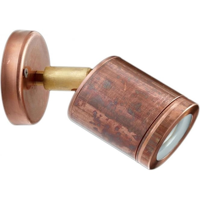 Hunza Outdoor Lighting PURE LED Wall Spot - copper - Hunza Outdoor Lighting from Moonlight ...