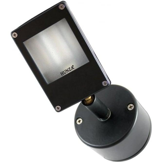 Hunza Outdoor Lighting PURE LED Wall Wash Spot Retro 230V Mains Powder Co