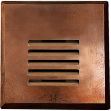 Step Light Louvre Square - copper - Low Voltage