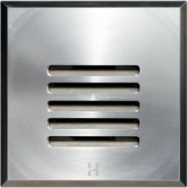 Step Light Louvre Square GU10 - stainless steel- MAINS