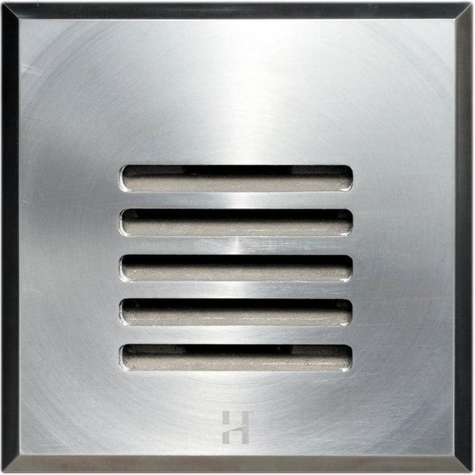 Hunza Outdoor Lighting Step Light Louvre Square - stainless steel - Low Voltage
