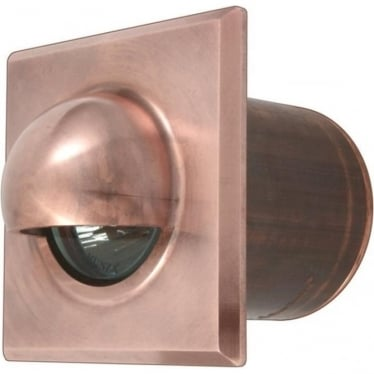 Step Light Seamless Eyelid Square GU10 - copper
