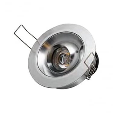 Tilting Eave Light 3w Stainless Steel - Low Voltage