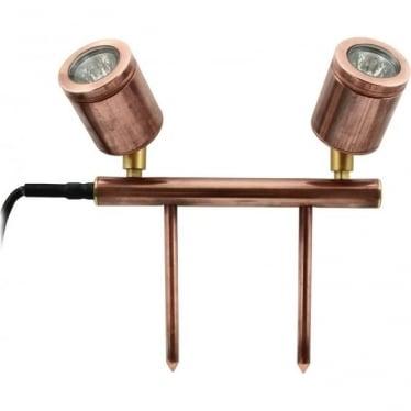 Twin bar light - copper - Low Voltage