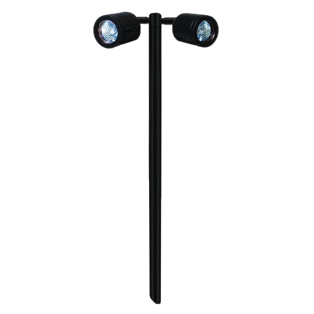 hunza outdoor lighting hunza outdoor lighting twin pole light gu10