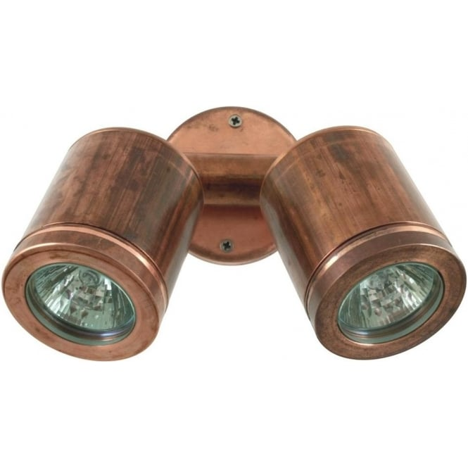 Twin External Wall Lights : Hunza Outdoor Lighting Twin Wall Spot GU10 - copper- MAINS - Hunza Outdoor Lighting from ...