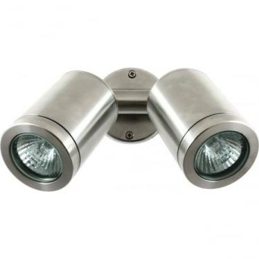 Twin Wall Spot GU10 - stainless steel- MAINS