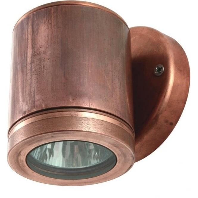 Hunza Outdoor Lighting Wall Down Light - copper - Low Voltage