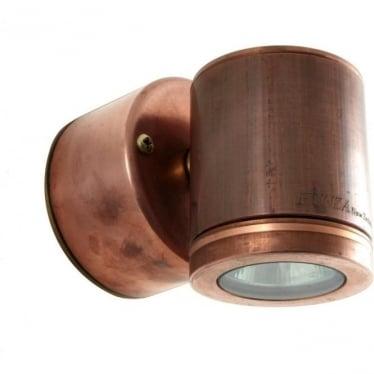 Wall Down Light Retro (230V Mains) - copper