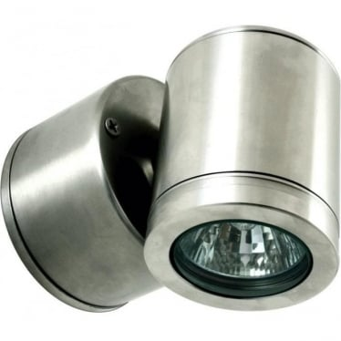 Wall Down Light Retro (230V Mains) - stainless steel