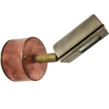 Wall Wash Spot Retro (230V Mains) - copper