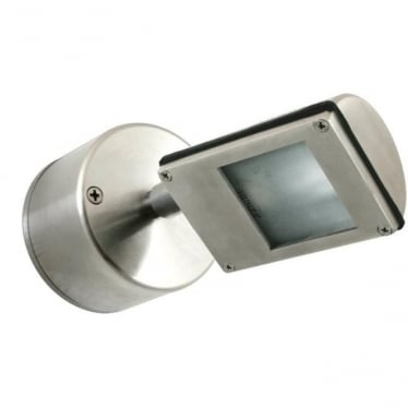 Wall Wash Spot Retro (230V Mains) - stainless steel