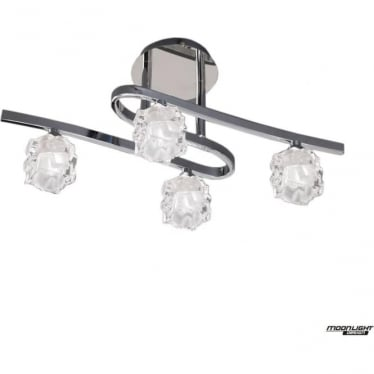 Ice 4 Light Ceiling Fitting Polished Chrome